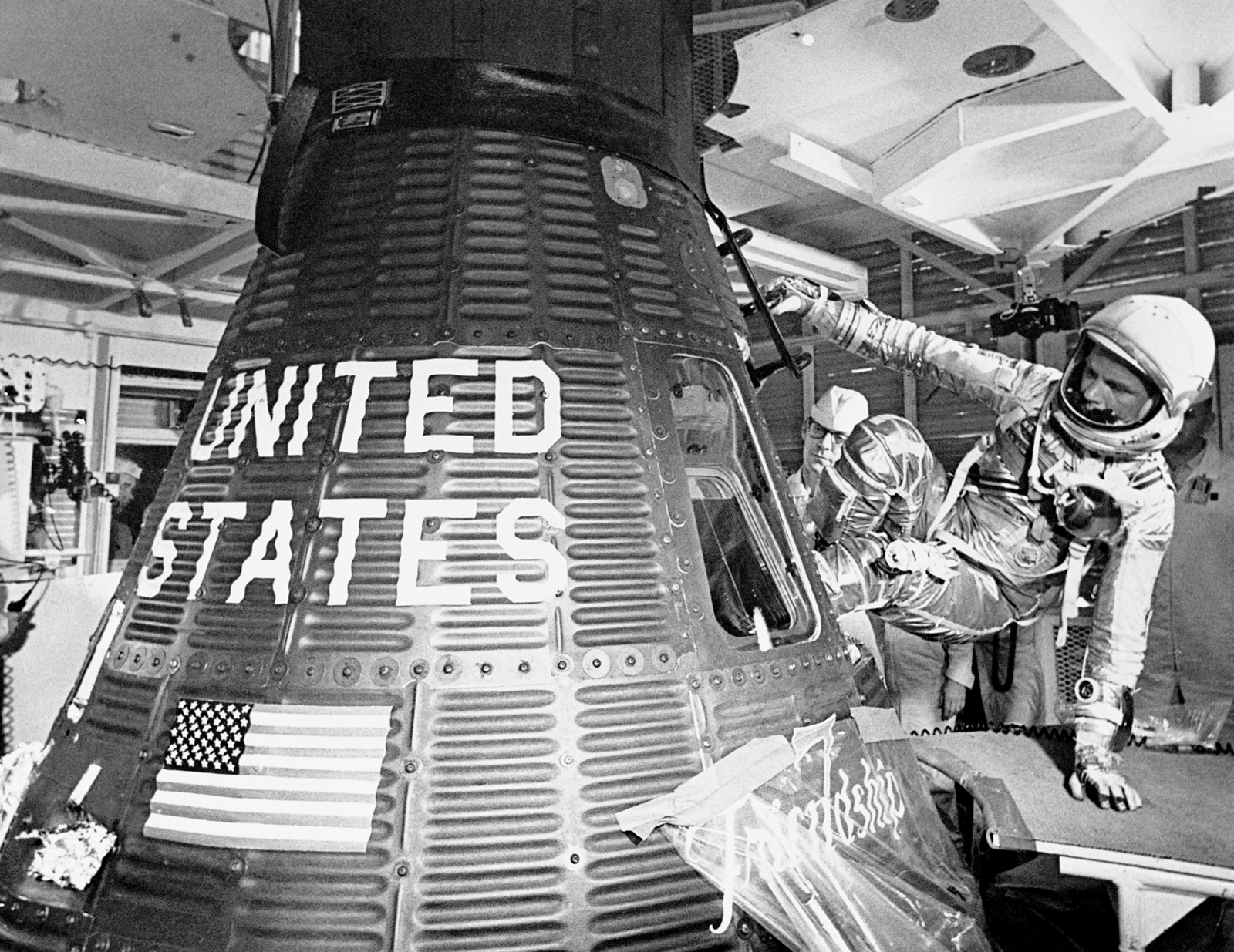 John Glenn becomes the first American to orbit Earth, 1962